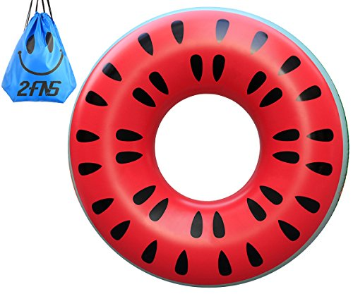 2 Fns Best Deal    Swimming Pool Float  Giant Inflatable Watermelon Pool Toys For Adults Kids  Inner Tube Swim Ring Raft  4 Ft