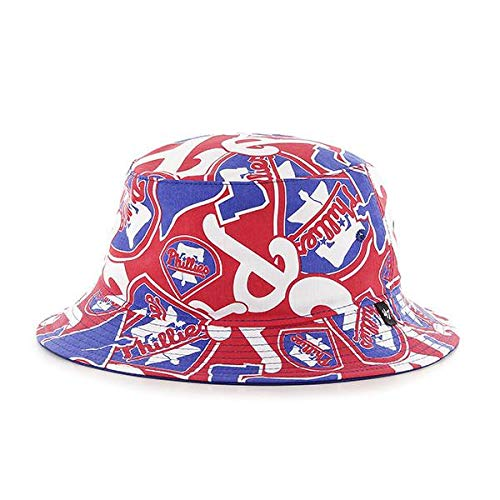 ('47 Philadelphia Phillies Bravado Printed All Over Bucket Hat - MLB Gilligan Fishing Cap)