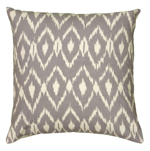 Rizzy Home T06151 Decorative Poly Filled Throw Pillow 18 x 18 Gray