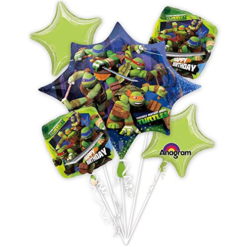 Anagram 230568 Nickelodeon Teenage Mutant Ninja Turtles Balloon Bouquet