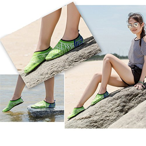 Beach Barefoot Aqua Water Socks Oderola for Surf Kid's Swim Exercise Green Shoes Sports Men's Skin Adult Yoga Women's 8wqqIPH