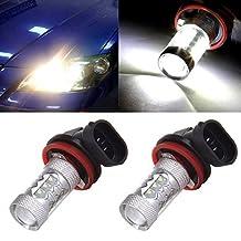 CCIYU 2 pcs 6000k White H11 12V Cree 3535 16SMD High Power LED Bulb for Fog Driving Light Daytime Running Lamps DRL Bulbs