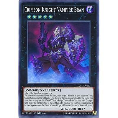 Crimson Knight Vampire Bram - DASA-EN013 - Super Rare - 1st Edition: Toys & Games