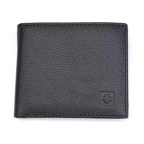 Amazon.com: HeroStore Leather Wallet Men New Brand Purses for Men Black Brown Bifold Wallet RFID Blocking Wallets with Gift Box MRF7: Kitchen & Dining