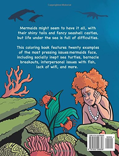 Mer World Problems A Coloring Book Documenting Hardships Under The Sea Amazonca Theo Nicole Lorenz Books
