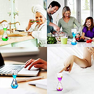 YUE Motion Liquid Motion Bubbler Timer for Sensory Toys, Fidget Toy, Children Activity, Calm Relaxing Desk Toys, Anxiety Toys, Autism Toys, ADHD Fidget Toys, Assorted Colors, Pack of 3(Style#1): Toys & Games