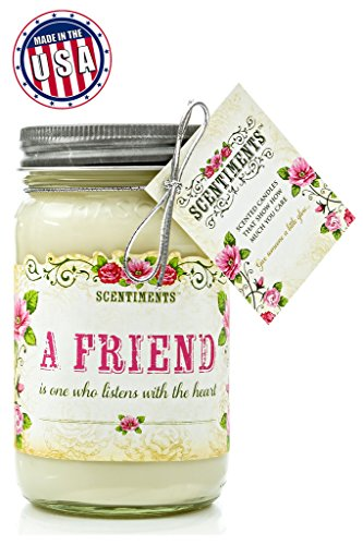 Scentiments THANK YOU Gift Candle Cinnamon Scented Fragrance 16oz