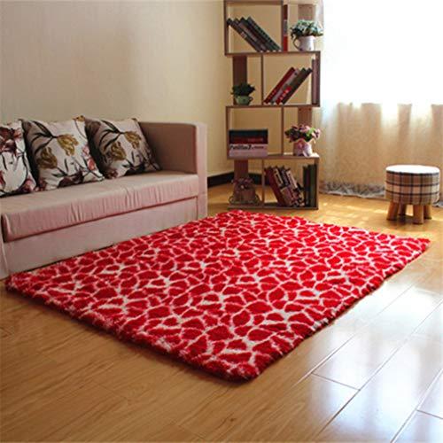 (Living Room Carpet Zebra Fluffy Rugs Plush Shaggy Bedroom Kitchen Non-Slip Doormat Washable Fuzzy Fur Rug)