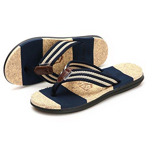 Sandales Piscine Homme Tongs Été Chaussures Gesimei Foncé Bleu Plage TqWXgcWwU
