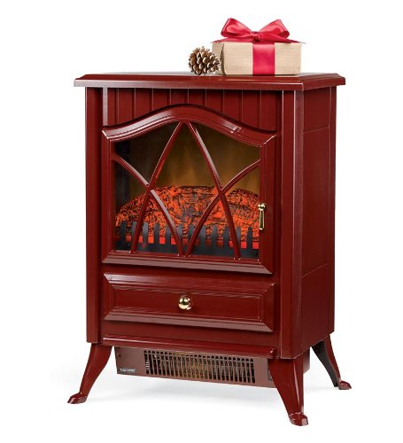 Plow & Hearth Portable Indoor Home Compact Electric Stove, Red