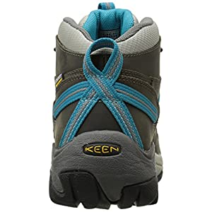 KEEN Women's Targhee II Mid Waterproof Hiking Boot,Gargoyle/Caribbean Sea,10 M US