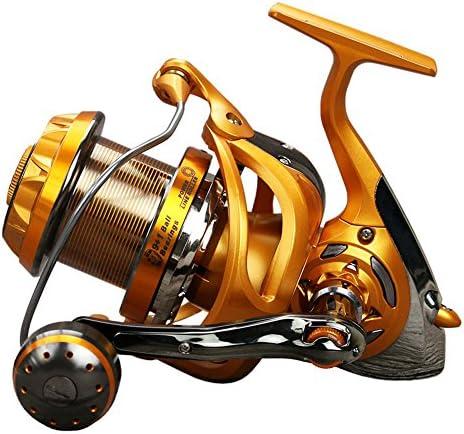 折りたたみハンドルリール釣り海釣り スピニングフィッシングリール9 + 1ベアリング左右交換ハンドルダブル海水淡水釣り用ダブルドラッグブレーキシステム スピニンググリル (サイズ : 6000)