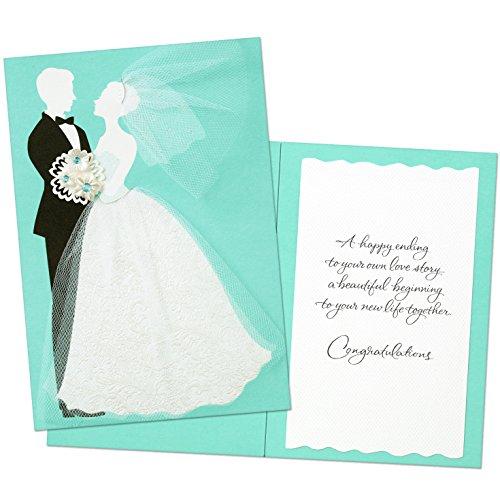 Hallmark Wedding Card: Tulle and Gems Bride and Groom