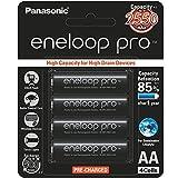 Panasonic Battery Eneloop Pro Upto 2550mAh 4xAA Rechargeable Ni-MH Battery BK-3HCCE/4BN