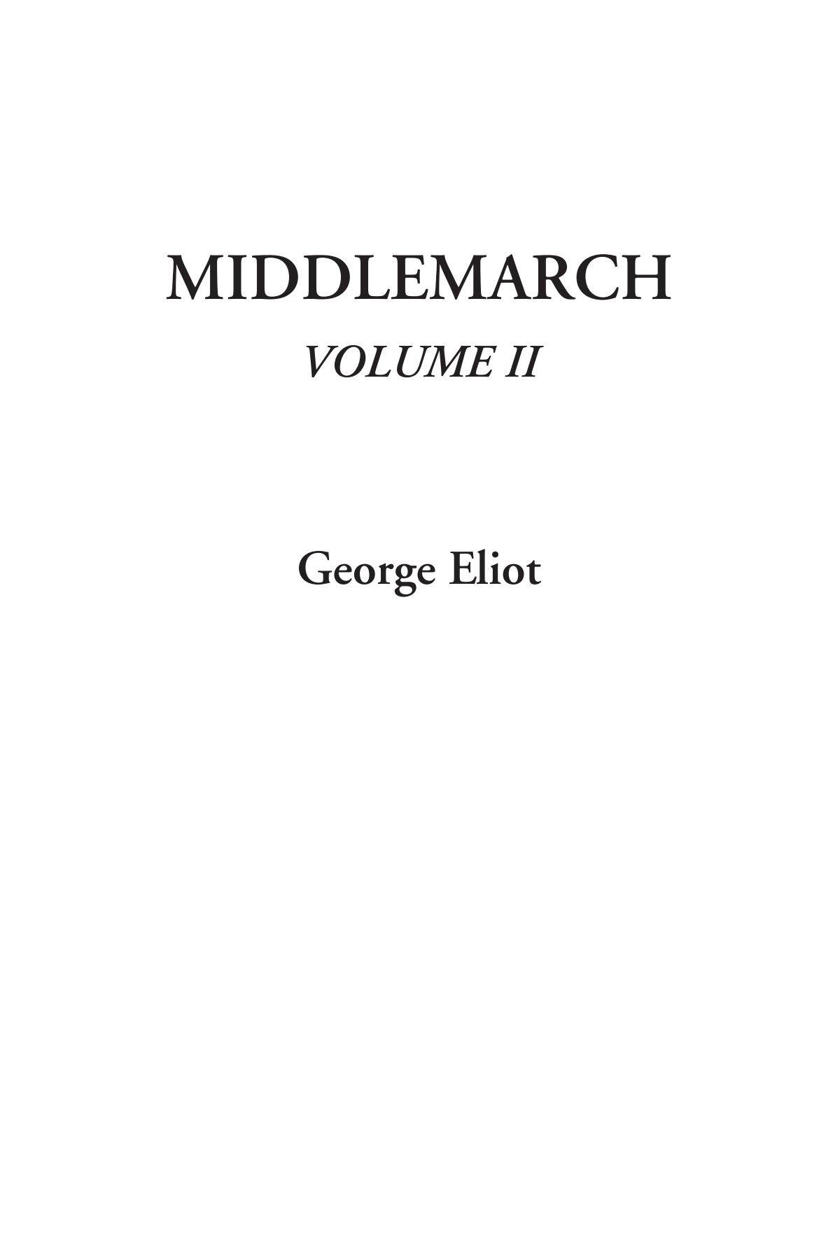 Middlemarch, Volume II pdf epub