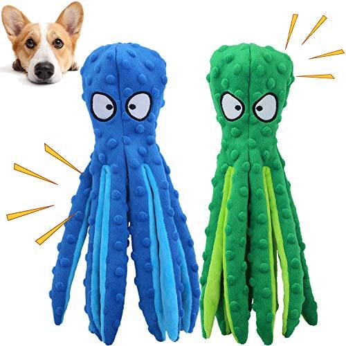 GHEART Quietsch Spielzeug für Hunde, Plüschstoff Spielzeug, Quietschendes Kauspielzeug für Welpen, Kleine und…