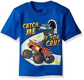 Blaze and The Monster Machines Little Boys' Toddler Short Sleeve T-Shirt, Navy Blue, 2T