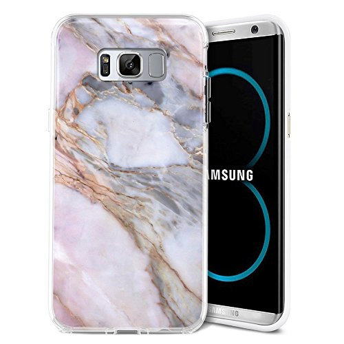 Galaxy S8 Plus Case, ZUSLAB Pattern Design, Slim Shockproof Flexible TPU, Soft Rubber Silicone Skin Cover for Samsung Galaxy S8 Plus (Marble Eye)