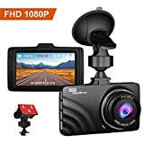 CLAONER Dash Cam Front Car Camera with Metal Housing Full HD 1080P Dashboard