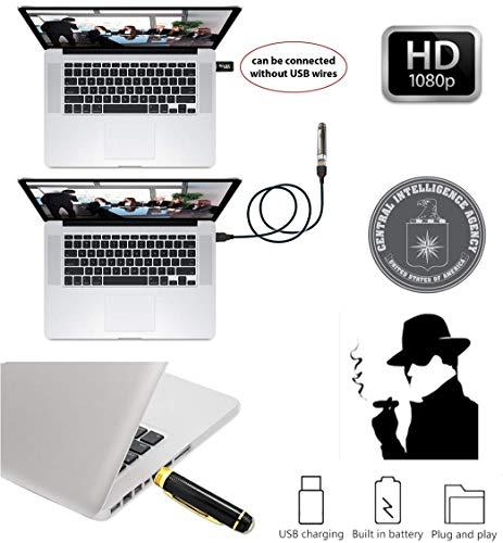 FabQuality Spy Camera Hidden Pen HD 1080P Clip On nanny cameras Mini Spy Pen PLUS 16GB SD Card + USB Reader + 5 Inks + Adaptor Perfect for Spy Gadgets