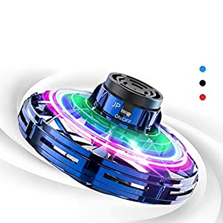 Flynova Flying Toys, Lovne Hand Operated Drones for Kids with 360° Rotating and Shinning LED Lights, UFO Drone for Kids Hand Controlled Free Flight Paths Creative Educational Toy (Blue)