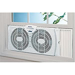 Amazon.com: Holmes Twin Window Fan Reversible Dual Blade ...