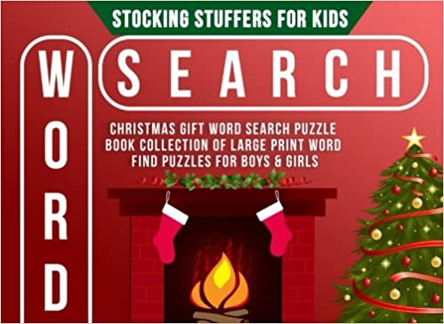 Stocking stuffers for kids christmas gift word search puzzle stocking stuffers for kids christmas gift word search puzzle book collection of large print word find puzzles for boys girls stocking stuffer ideas for negle Gallery