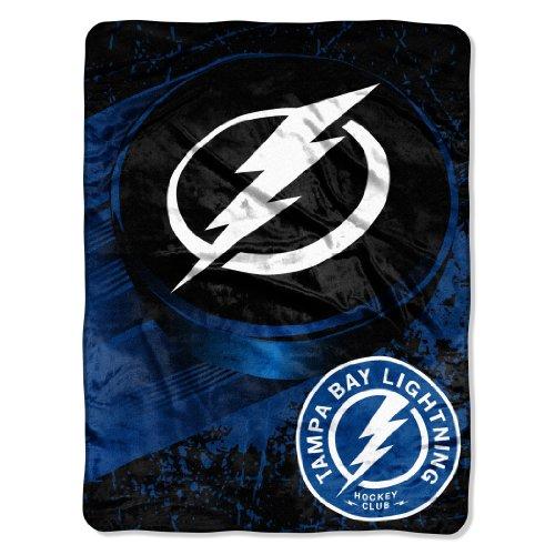 NHL Tampa Bay Lightning 46-Inch-by-60-Inch Micro-Raschel Blanket, Ice Dash Design