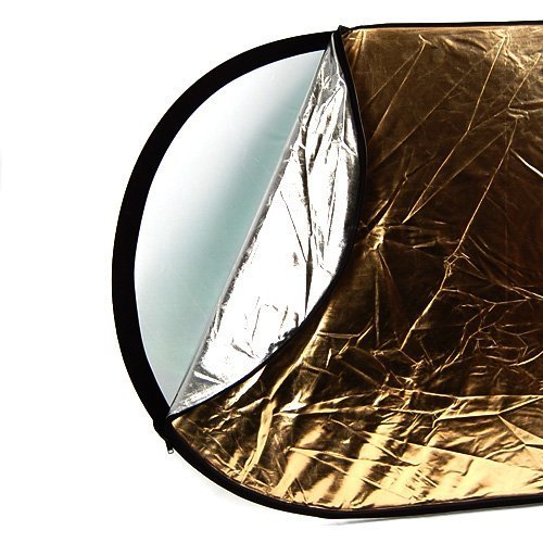 CowboyStudio 40 x 60 Inches Oval 5 in 1 Collapsible Multi Photography Disc Studio Reflector, translucent/gold/silver/white/black