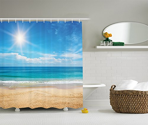 Ambesonne Nautical Seascape Collection Polyester