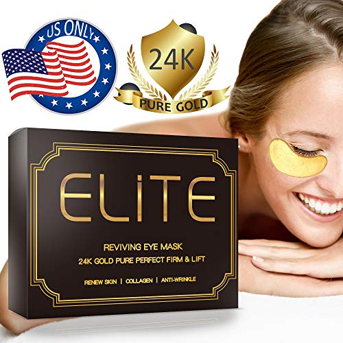 Under Eye Patches- 24K Gold Eye Gel Mask Eye Collagen Treatment Mask |Under Eye Pads for Reducing Dark Circles| Smoothing Skin, Natural Lift | 1 Box for 2 Weeks Treatment |15 Pairs