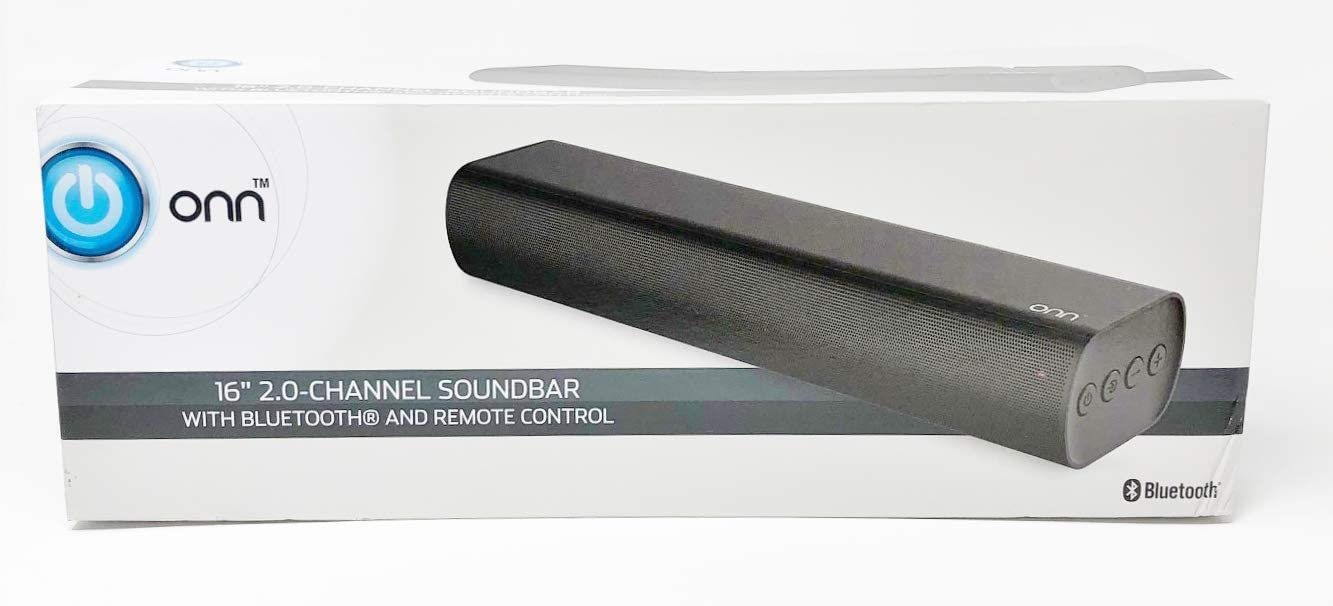 ONN 2.0 Channel 16 Soundbar with Bluetooth Remote Control