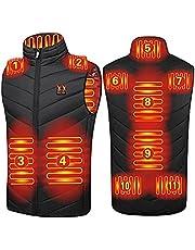 joyvio Elektrisch verwarmde jas heren dames,wasbaar USB verwarmd vest met 3 verwarmingsniveaus en 11 verwarmingszones voor skitochten en wintervissen (zonder batterij)