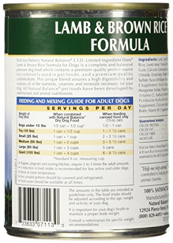 Natural Balance Lamb & Rice Formula Dog Food, 13 oz, Pack of 12 by Natural Balance (Image #4)