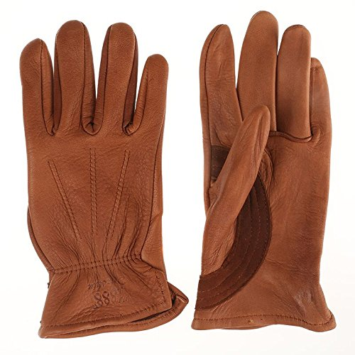 Price comparison product image Tuff Mate Gloves Mens Tuff Mate Ladies 1888 Authentic Western Deerskin Driver Gloves 9 Tan