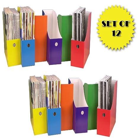 Amazon COLORFUL MAGAZINE FILE HOLDERS SET OF 40 Plastic Gorgeous Colorful Magazine Holders