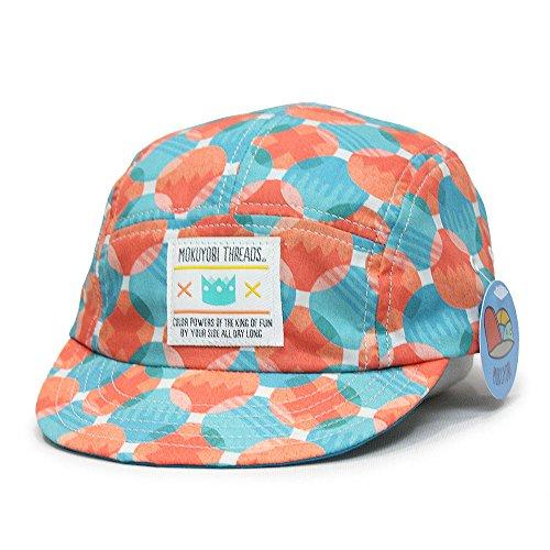 - Vintage Style Brim Adjustable 5 Panel Hat Made in US Camper Cap (Circle Play)