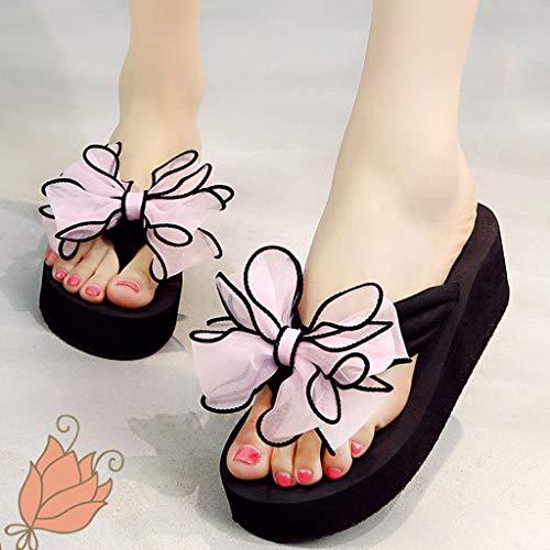 Wear Chaussures Wedge Plage Huyp Anti Pantouflestaille37 dérapant Mode Cute Flip flops De Personnalité 4j3L5qcAR
