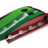 GOLF PUTTING MAT - PREMIUM WOODEN PUTTING GREEN - MINI GOLF