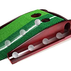Amazon Com Golf Putting Mat Premium Wooden Putting