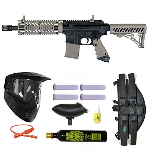 Tippmann TMC Paintball Marker Gun 3Skull 4+1 9oz Mega Set