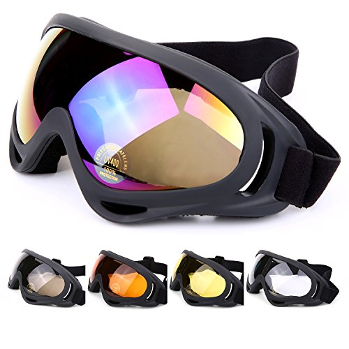 Laho UV Protection Ski Goggles Outdoor Sports Ski Glasses CS Army Tactical Military Goggles Windproof Snowmobile Bicycle Motorcycle Protective - Display Heads Up Sunglasses