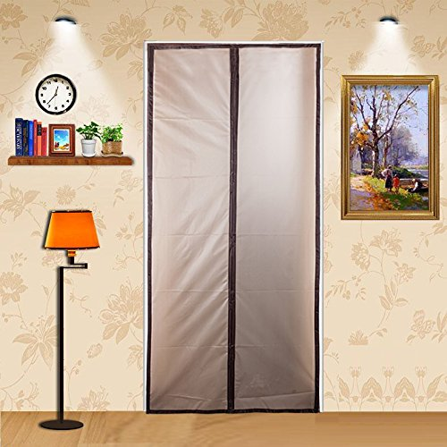 (ZYettst Magnetic Thermal Insulated Door Curtain for Living Room and Kitchen,EVA Magnetic Screen Door Enjoy Your Cool Summer And Warm Winter Auto Closer Fits Doors Up To 34