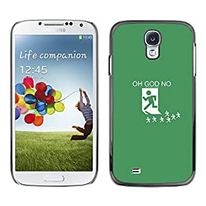 LECELL--Funda protectora / Cubierta / Piel For Samsung Galaxy S4 -- Oh Dios No --