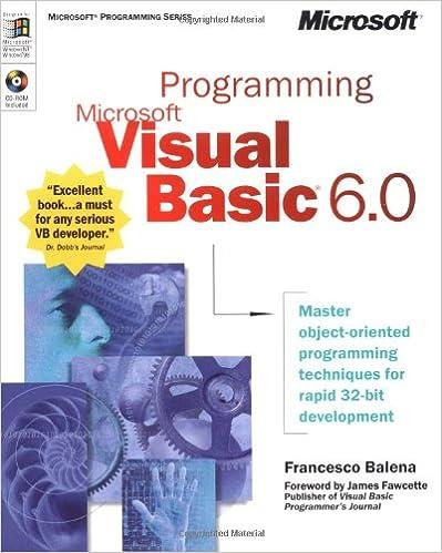 Programming Microsoft Visual Basic 6.0 (Developer Reference)