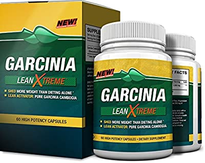 Premium Garcinia Lean Xtreme Cambogia Extract Formula - 60 High Potency Capsules - 60% HCA - Twice Daily Capsule for Healthy Weight Management