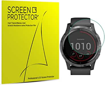 (6-Pack) LUPAPA for Garmin Vivoactive 4 Screen Protector Flexible TPU Film, Anti-Scratch Bubble Free 99.9% High Definition Clear Soft Skin Smartwatch Protective Film [Self Healing]