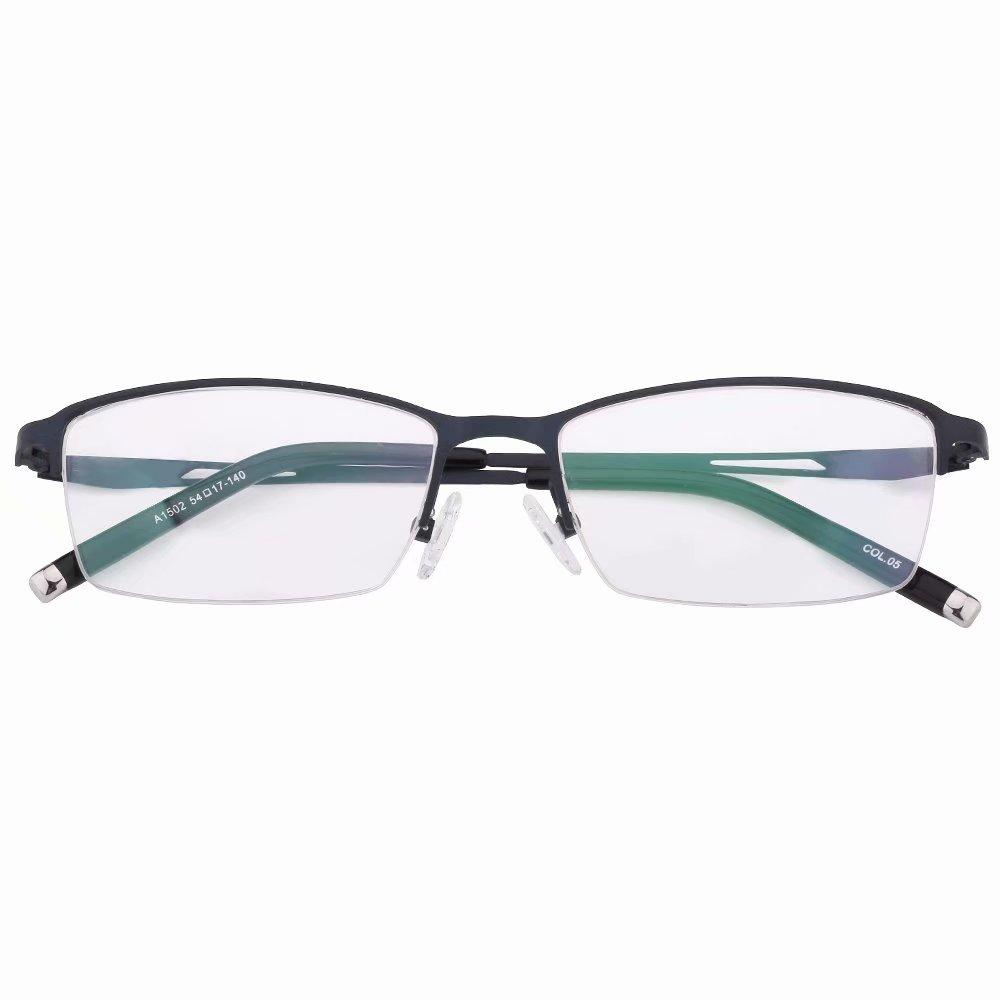 99e96f5759 Amazon.com  Half Rim Bifocal Reading Glasses +2.00 Strength Metal Frame  Bifocals Mens Womens Readers Blue Frames Spectacles  Health   Personal Care