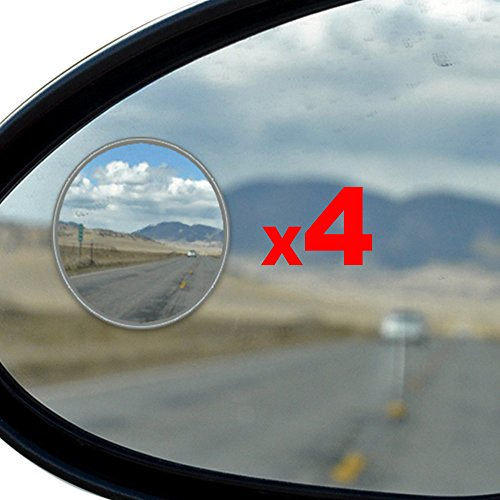Best Blind Spot Mirror - 4 Pack Blind Spot Mirror For SUV & Blind Spot Mirrors For Cars - Great For Motorcycles, Trucks, Snowmobiles As Well - Rust Resistant Aluminum 2