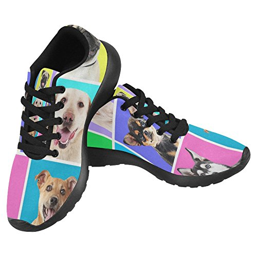 Interestprint Femmes Jogging Running Sneaker Léger Aller Facile À Pied Casual Confort Chaussures De Course Multi 4